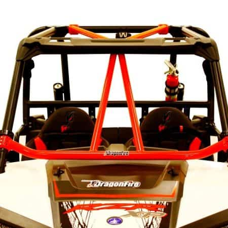 Renfort arceau avant Dragonfire Flying V rouge Polaris RZR