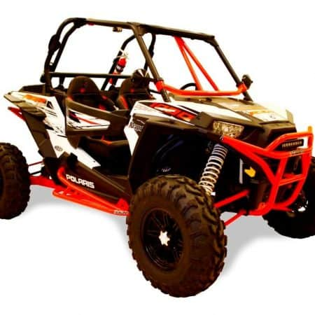 Protection latérale DRAGONFIRE rouge Polaris RZR