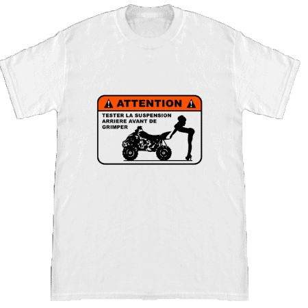 Tee-shirt humour test suspensions