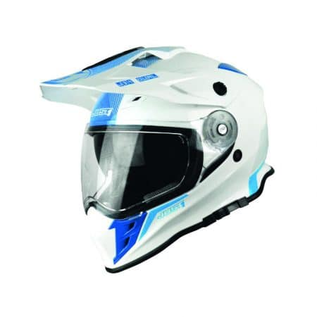 Casque cross JUST1 J34 Shape Bleu Néon