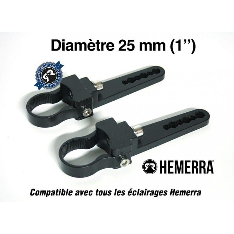 Paire de fixations pour tube de 25 mm