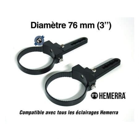 Paire de fixations pour tube de 76 mm